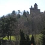 Blick auf die Burg Berwartstein