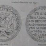 """Silberner Imschbachtaler von 1721, """"Weiße Grube"""" bei Imsbach/Pfalz"""