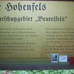 Ruine der Burg Hohenfels mit Historie