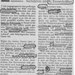 ab Lambertskreuz haben sich 3 Wanderer verlaufen; Zeitungsbericht