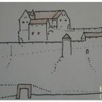 Burgruine Lemberg; alte Darstellung