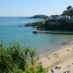 Looe beach, south-west-coast-path