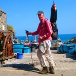 south-west-coast-path, Cadgwith, Hafen mit Bootswinde
