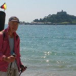 "Saint Michaels Mount on the south-west-coast-path with ""Wanderhans"", while football championship 2014"