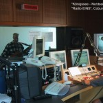 "Wanderhans singt bei Radio 1 in Coburg. Ton --> Textlink "" ... Äther""."