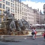 Lyon mit dem Pferdebrunnen