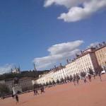 Lyon mit dem place rouge, roter Platz